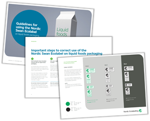 Guidelines for using the Nordic Swan Ecolabel on liquid foods packaging